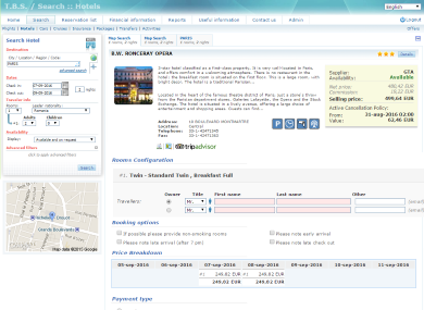 TBS hotel booking