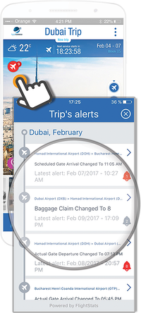 Real-time-flight-notifications
