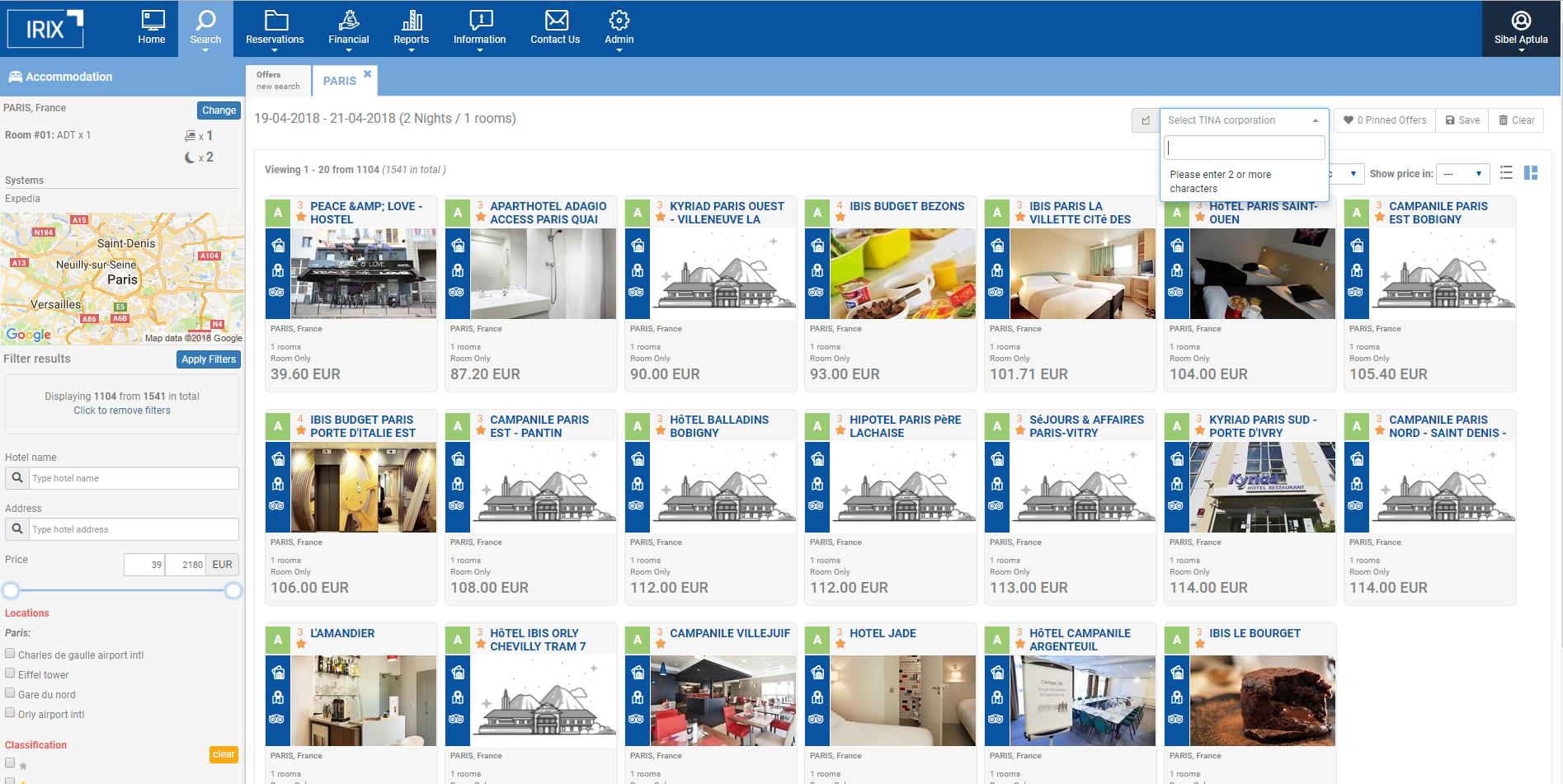 listing hotels