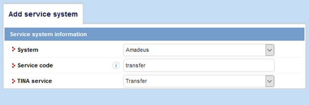 Transfers from Amadeus