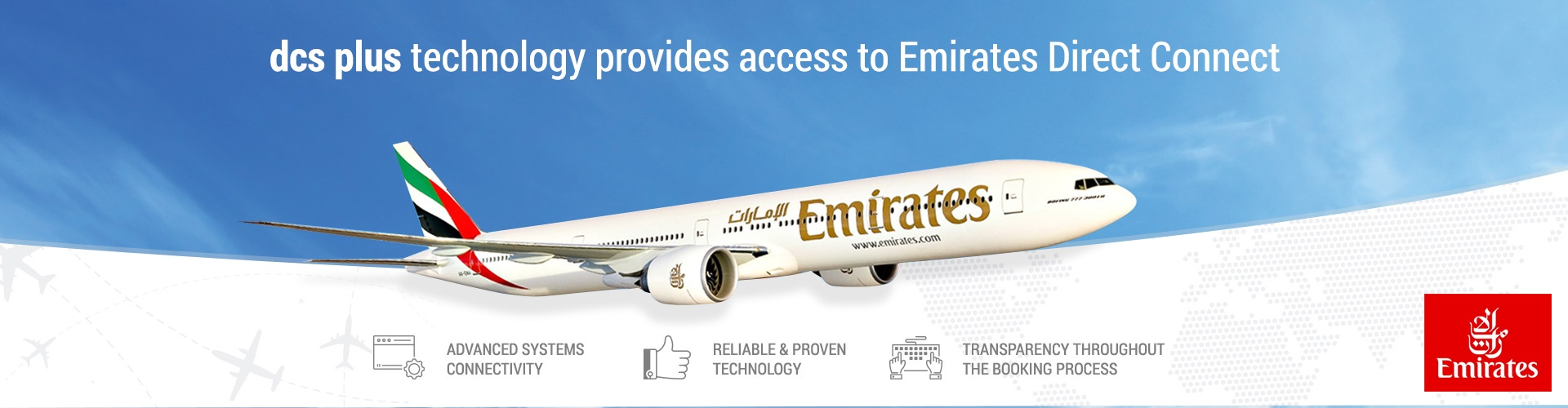 dcs plus technology provides access to Emirates direct connect