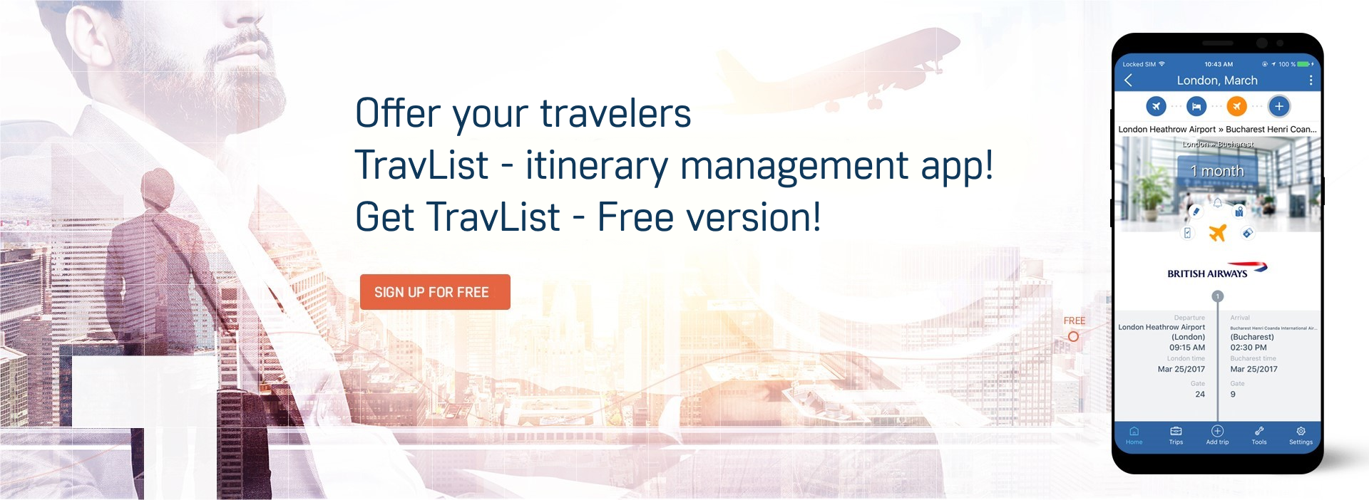 TravList - Itinerary Management Mobile App